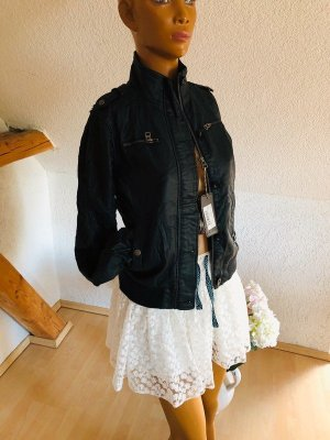 Cars Jeans Leather Jacket black