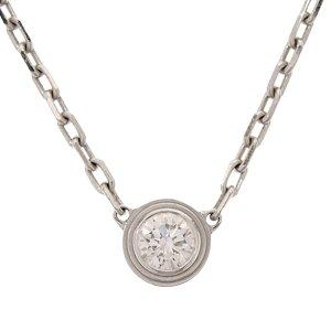 Cartier Collar color plata oro verdadero