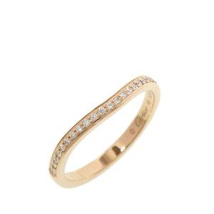 Cartier 18K Half Diamond Ballerina Curve Ring