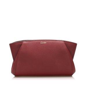 Cartier C de Cartier Leather Clutch Bag