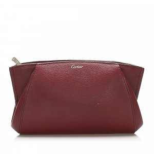 Cartier C de Cartier Leather Clutch Bag