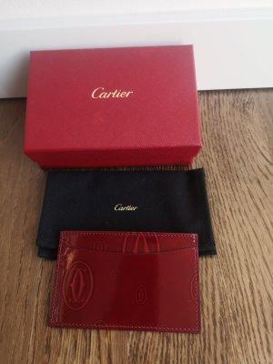 Cartier Portemonnee karmijn Leer