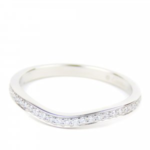 Cartier Diamond Curved Ring