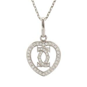 Cartier Diamond Heart Pendant Necklace