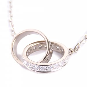 Cartier Diamond Love Ring Necklace