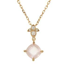 Cartier Diamond Rose Quartz Necklace