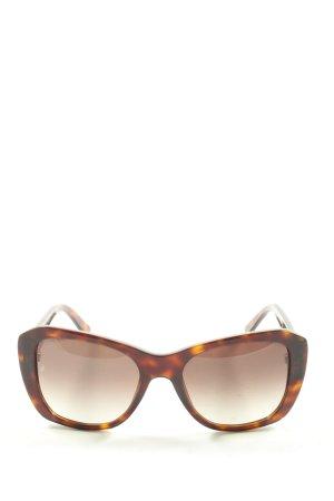 Cartier Gafas de sol cuadradas marrón degradado de color look casual