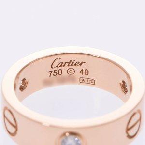 Cartier half diamond ring  # 49