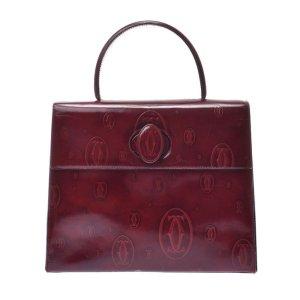 Cartier Bolso burdeos Cuero