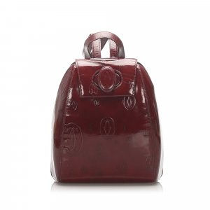Cartier Happy Birthday Patent Leather Backpack