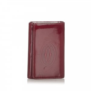 Cartier Happy Birthday Patent Leather Key Holder