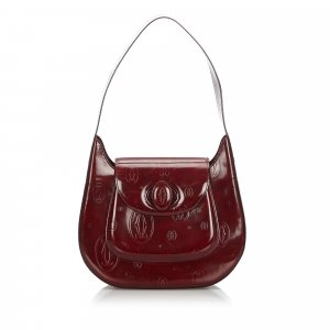 Cartier Shoulder Bag bordeaux imitation leather