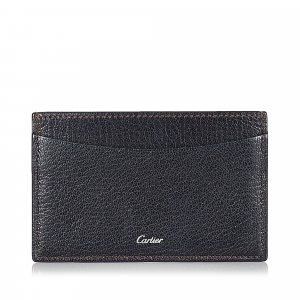 Cartier Tarjetero negro Cuero