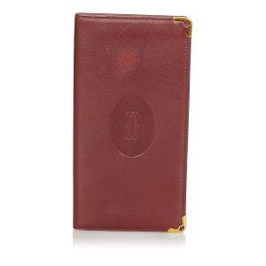 Cartier Porte-cartes bordeau cuir