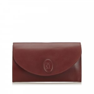 Cartier Borsa clutch bordeaux Pelle