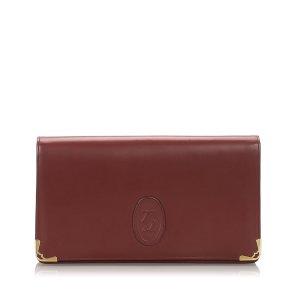 Cartier Leather Must De Cartier Clutch Bag