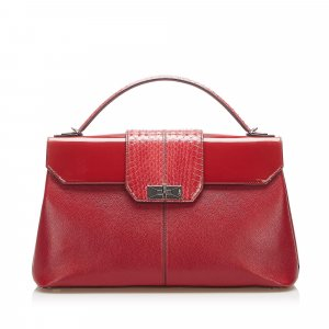 Cartier Satchel red leather
