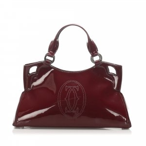 Cartier Marcello Patent Leather Handbag