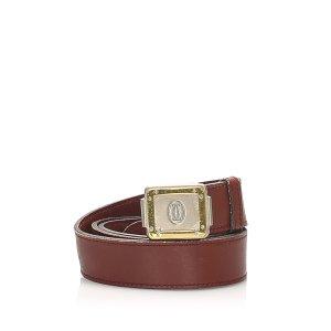 Cartier Cinturón burdeos Cuero