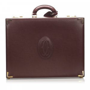 Cartier Business Bag bordeaux leather