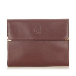 Cartier Business Bag bordeaux leather