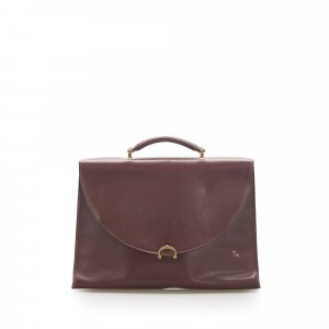 Cartier Serviette bordeau cuir