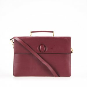 Cartier Must de Cartier Leather Business Bag