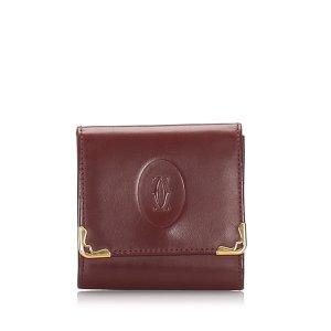 Cartier Must de Cartier Leather Coin Case