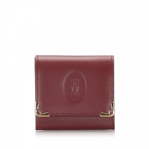 Cartier Must de Cartier Leather Coin Pouch