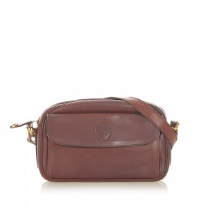Cartier Crossbody bag bordeaux leather