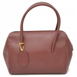 Cartier Must Line Leather Satchel Hand Bag