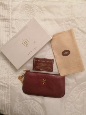 Cartier Clutch gold-colored-bordeaux leather