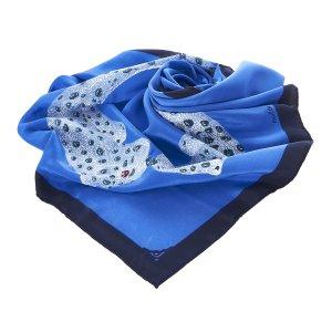 Cartier Scarf blue silk