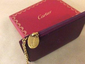 Cartier Sleutelhanger karmijn Leer