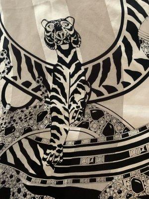 Cartier Pañoleta blanco-negro Seda
