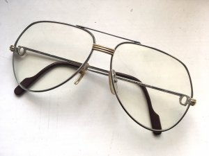 Cartier Vendome Louis Vintage Brille 140, Platinum 1983, France