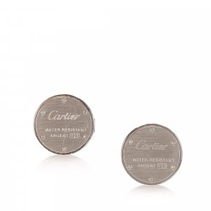 Cartier Water Resistant Sterling Silver Cufflinks