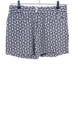 Cartonnier High waist short wit-zwart volledige print casual uitstraling