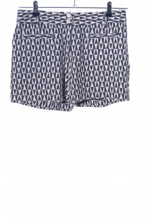 Cartonnier High-Waist-Shorts weiß-schwarz Allover-Druck Casual-Look