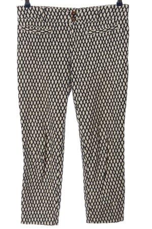 Cartonnier Stoffen broek wolwit-zwart volledige print casual uitstraling