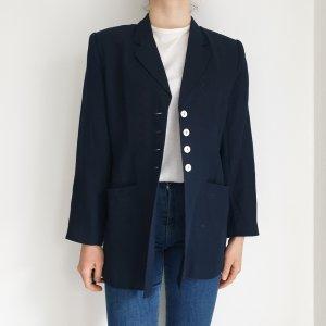 cartoon 42 blue True Vintage Mantel Trenchcoat leichte Jacke Oversize