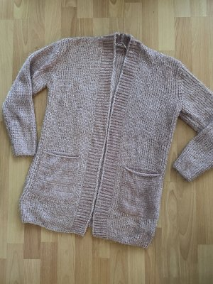 Cartoon Coarse Knitted Jacket light pink