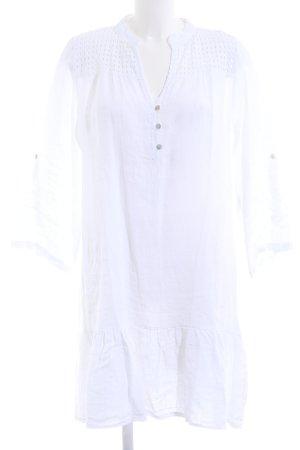 Cartoon Sukienka koszulowa biały Len