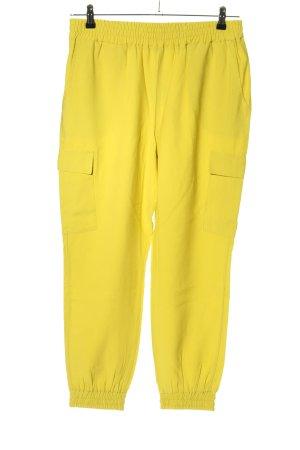 Cartoon Pantalón de camuflaje amarillo pálido look casual