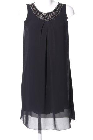 Cartoon Chiffon Dress black casual look