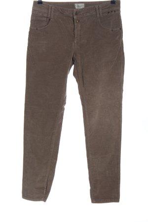 Cartoon Spodnie z pięcioma kieszeniami brązowy W stylu casual