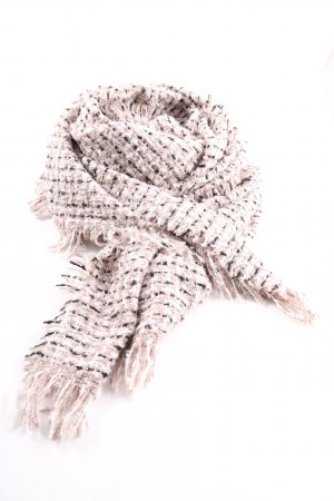 Cartoon Fringed Scarf weave pattern casual look