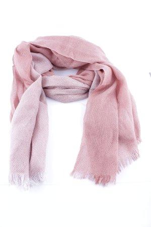 Cartoon Sciarpa con frange rosa modello web elegante