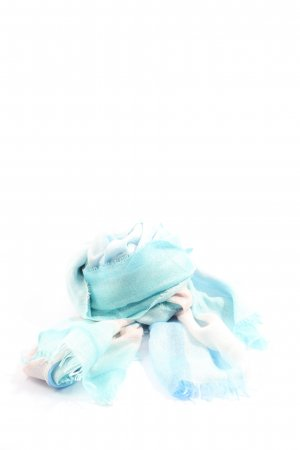 Cartoon Fringed Scarf color gradient casual look