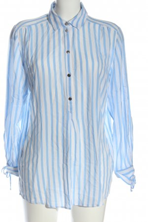 Cartoon Hemd-Bluse weiß-blau Streifenmuster Business-Look